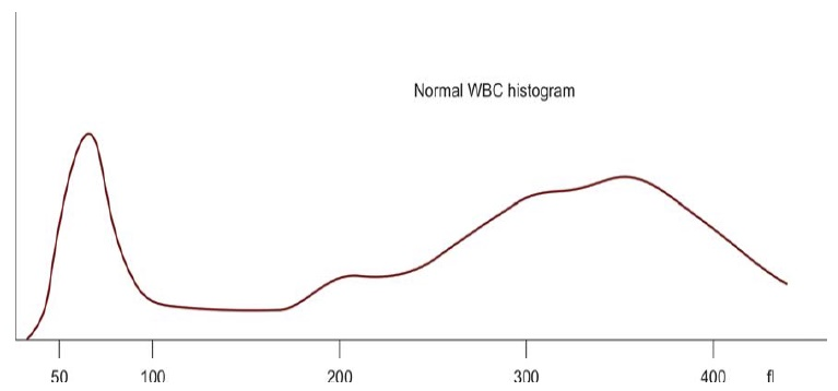 Figure 808.2 Diagrammatic representation of WBC histogram